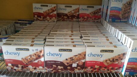 Chewy Snacks – Great if you're on the go!