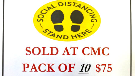 Social Distancing Stickers – Pack for 10 for $75ec